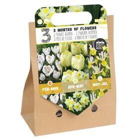 Pick-up tas Bloembollen 3 Months of Flowers Wit / Geel