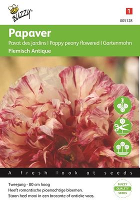 Poppy seeds Peony Flowered