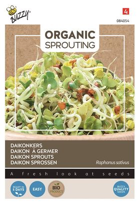 Organic Daikon Sprouts Cut and Eat